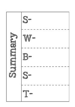 Summary Foldable-Interactive Notebooks