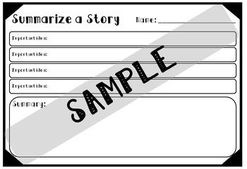 Summary Graphic Organizers