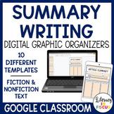 Summary Graphic Organizers   Digital   Google Classroom