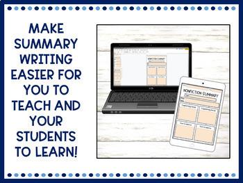 Summary Graphic Organizers | Digital | Google Classroom