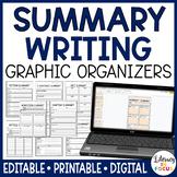 Summary Graphic Organizers | Editable | Google Classroom Version Included