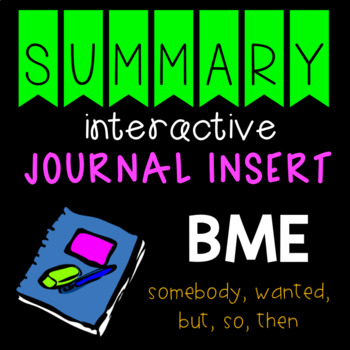 Summary Interactive Journal Insert