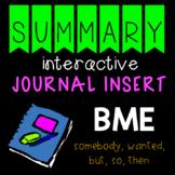 Summary Interactive Journal Insert