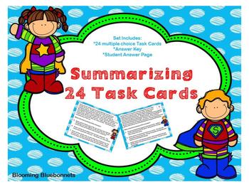 Summary, Main Idea Task Card Bundle