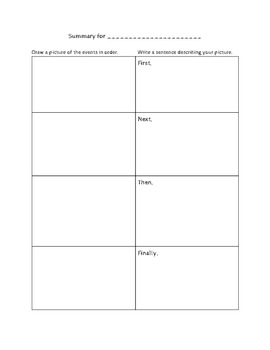 Summary: Pictures to Sentences