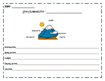 Summary & Plot Graphic Organizer