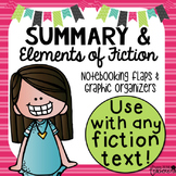 Summary Plot & Story Elements graphic organizers for any f