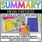 Summary Posters, Graphic Organizers, and Activities - FREEBIE