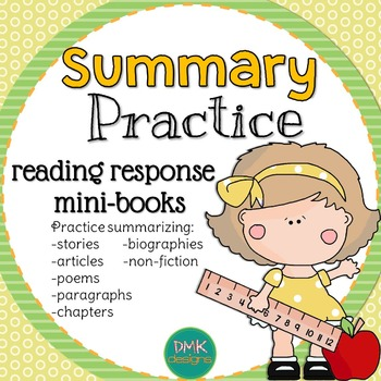 Summary Practice Reader's Response Mini-Books