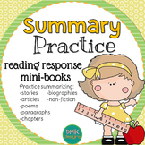 Summary Practice Reader's Response Mini-Books