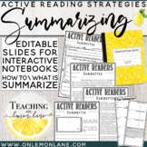 Summary Reading Strategy How to Summarize / EDITABLE Use w/ any text