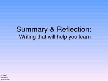 Summary & Reflection