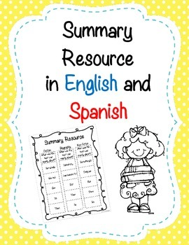 Summary Resource in English and Spanish