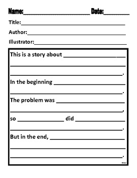 Summary Retelling Forms for Narrative and Expository