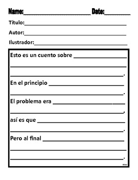 Summary Retelling Forms for Narrative and Expository in Spanish