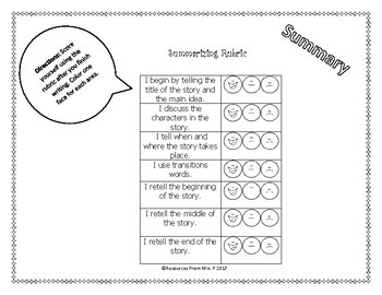 Summary Rubric & Peer Feedback
