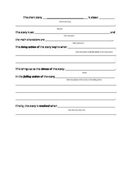 Summary Sentence Frames