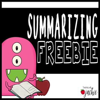 Summary Sheet and Retell Organizer Freebie!