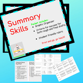 Writing a Summary: Graphic Organizer and Rubric, use with any Non-fiction Text