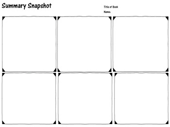 Summary Snapshot Graphic Organizer