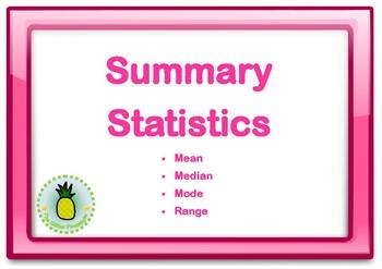 Summary Statistics Posters