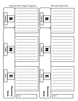 Summary Sticks - Graphic Organizer