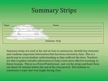 Summary Strips
