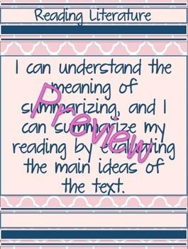 Summarizing-Reference Sheet, Bookmark, Learning Target