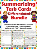Summary Task Cards - Summarizing Task Cards - and Graphic Organizer BUNDLE