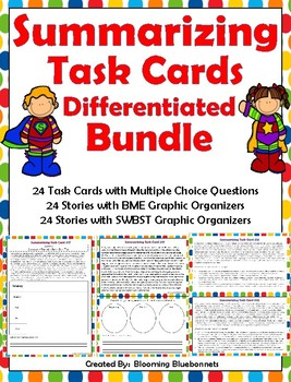 Summary Task Cards - Summarizing Task Cards - and Graphic