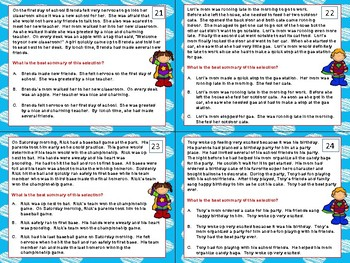 Summary Task Cards - Summarizing Task Cards