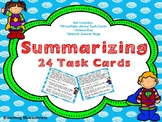 Summary Task Cards - Summarizing Task Cards- PDF and Digit
