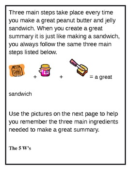 Summary Three key steps to create a summary for elementary and middle school