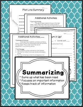 Summary Writing! Common Core 3rd, 4th, 5th, 6th Grade