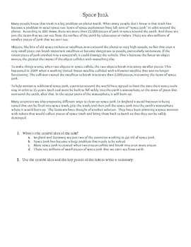 Summary Writing & 4 Point Rubric