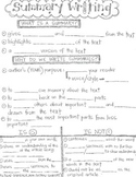 Summary Writing CLOZE Graphic Organizer Notes