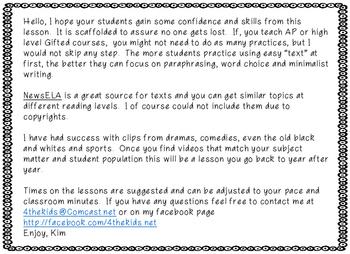 Summary Writing - ELA relevant details #Fisforfebruary