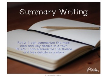 Summary Writing Packet- Fiction and NonFiction- use with any text