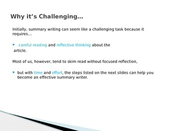 Summary Writing Power point