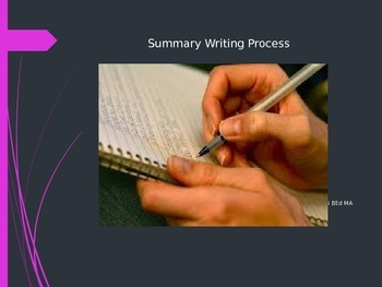 Summary Writing Process