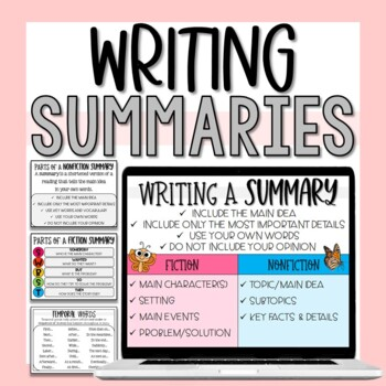 Summary Writing Unit