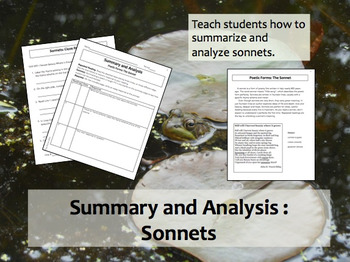 Summary and Analysis: Sonnets