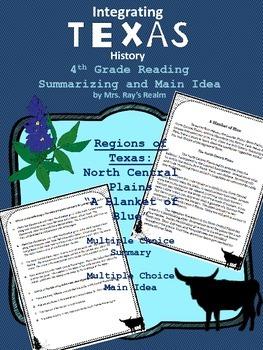 Texas North Central Plains Summary and Main Idea Reading Passage