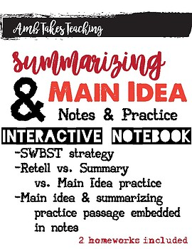 Summary and Main Idea Unit