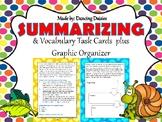 Summary Task Cards / Summarizing Task Cards - Vocabulary Task Cards