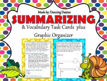 Summary Task Cards - Vocabulary Task Cards