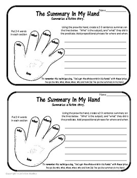 Summary in My Hand - song, organizer and writing