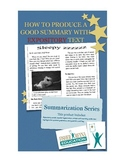 Summary of Expository Text Grade 3-5 SleepyZ Article