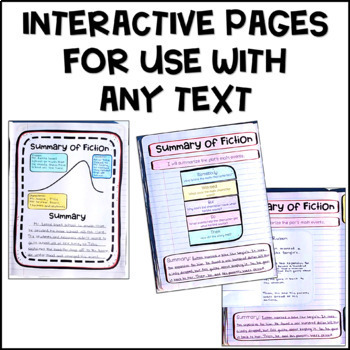 Summary of Fiction Interactive Notebook Pages