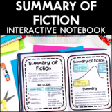 Summary of Fiction - Reading Interactive Notebook | Distan
